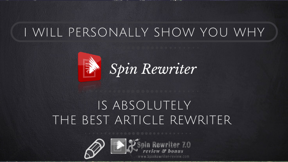 Spin Rewriter is the best article rewriter