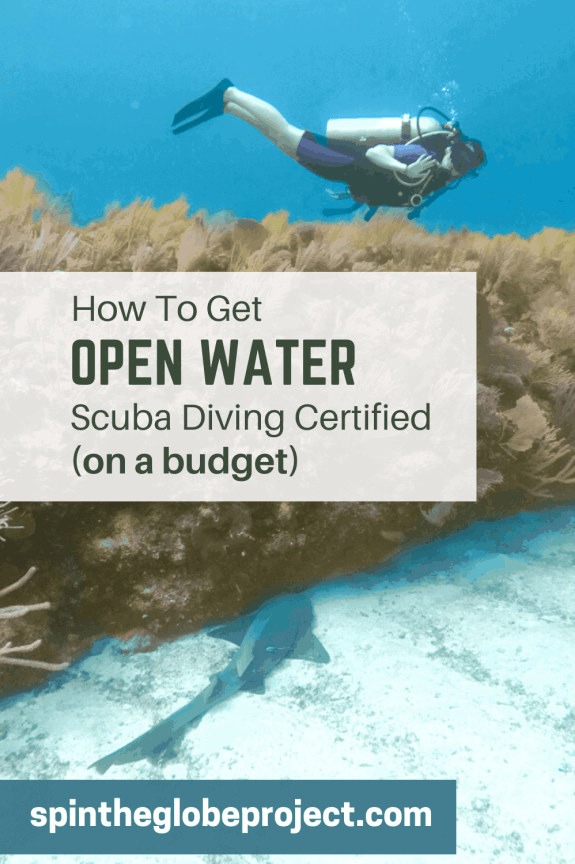 how to get open water scuba diving certified on a budget