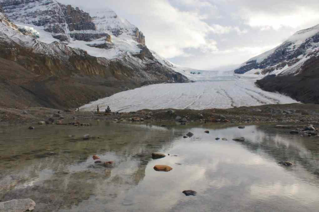 Toe of the Athabasca Glacier hike in Icefields Parkway