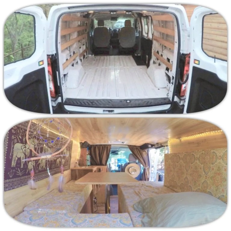 van build before and after