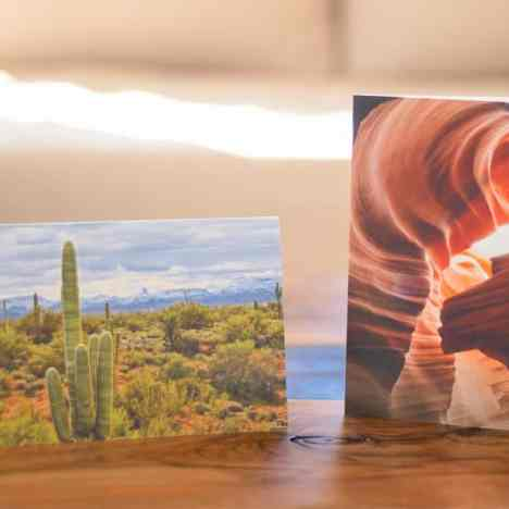 greeting cards with Arizona landscapes