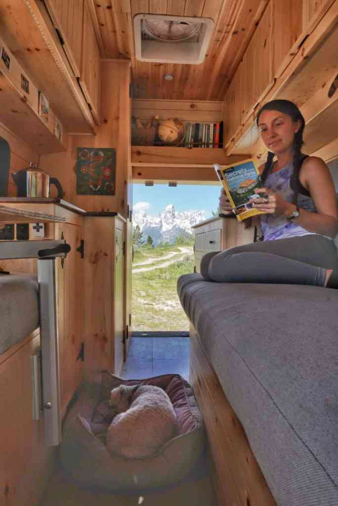 Shadow Mountain Area camping with views of Grand Teton mountains