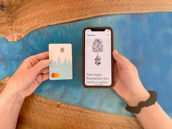 ethical banks aspiration debit card
