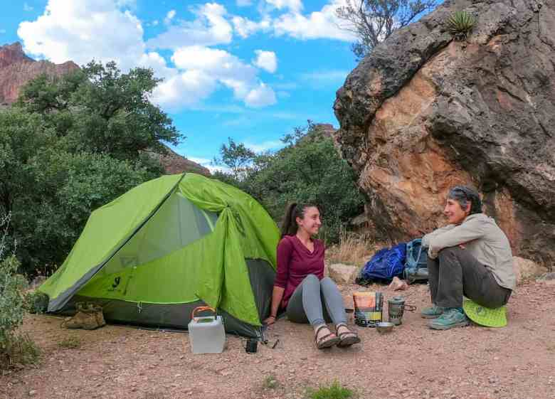 backpacking in the grand canyon and cooking on the esbit stove