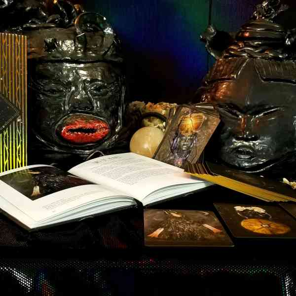 Altar with Dust II Onyx cards and book