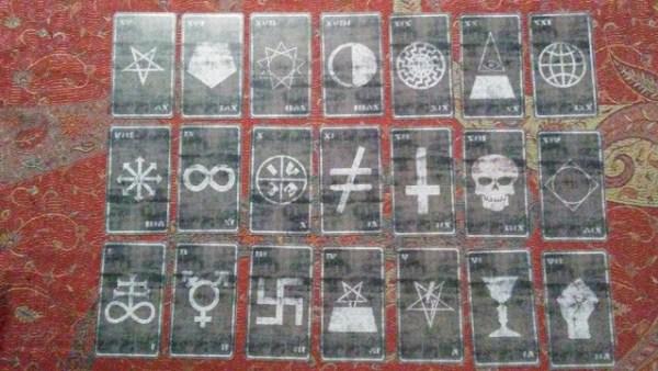 Satanic Tarot Major Design