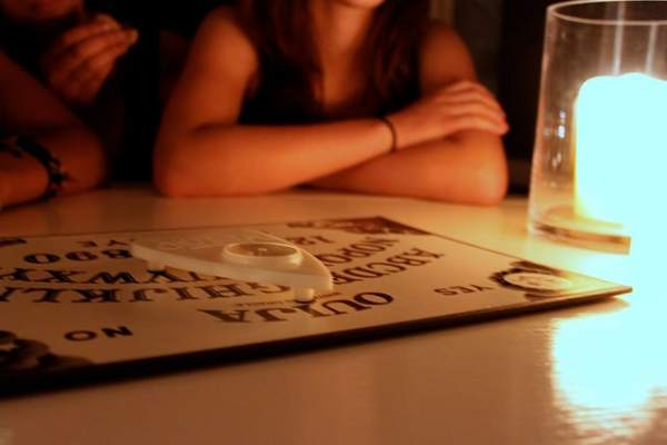 Ouija board, photo by Adeline