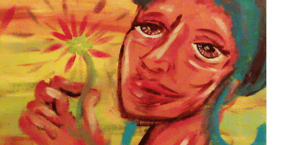Detail from As Fleeting as Flowers, by Donyae Coles
