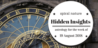 Hidden Insights: Astrology for the week of 19 August 2018