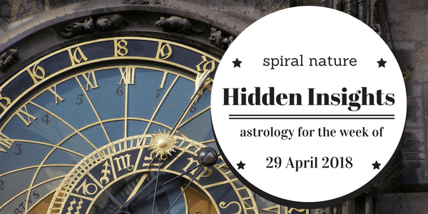 Hidden Insights: Astrology for the week of 29 April 2018