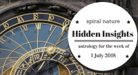 Hidden Insights: Astrology for the week of 1 July 2018