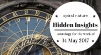 Hidden Insights: Astrology for the week of 14 May 2017