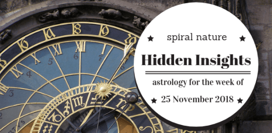 Hidden Insights: Astrology for the week of 15 November 2018