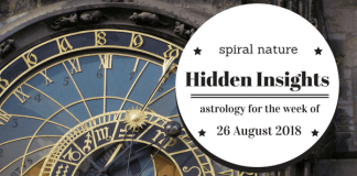 Hidden Insights: Astrology for the week of 26 August 2018