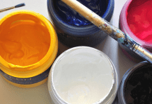 Paint and brushes, photo by z Q