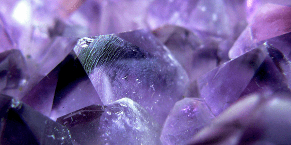 Purple crystal, photo by John Wardell