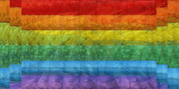 Rainbow flag, photo by QThomas Bower