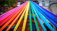 Rainbow ribbons, photo by Ted Eytan
