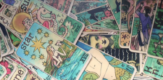Cards from the Mermaid Tarot by Dame Darcy