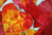 Painted hearts, photo by Judy Merrill-Smith