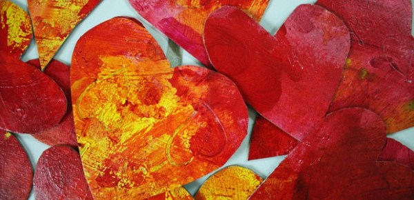 Painted hearts, photo by Judy Merrill-Smith