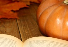 Book and pumpkin, photo by Torange