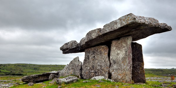 Ancient Celtic dolmen from Poulnabrone, Ireland. Photo credit: Nicolas Raymond