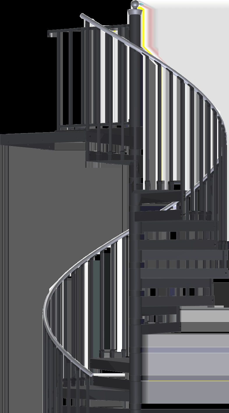 Shop For Indoor And Outdoor Spiral Stair Kits Spiral Stair Warehouse | Used Steel Stairs For Sale | Seawall | Exterior | Hinged | Black Metal | Industrial
