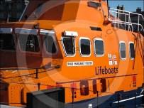 Kirkwall lifeboat is an RNLI Severn Class vessel