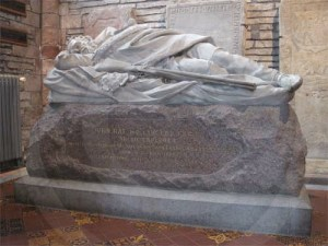 Dr John Rae monument in St Magnus cathedral