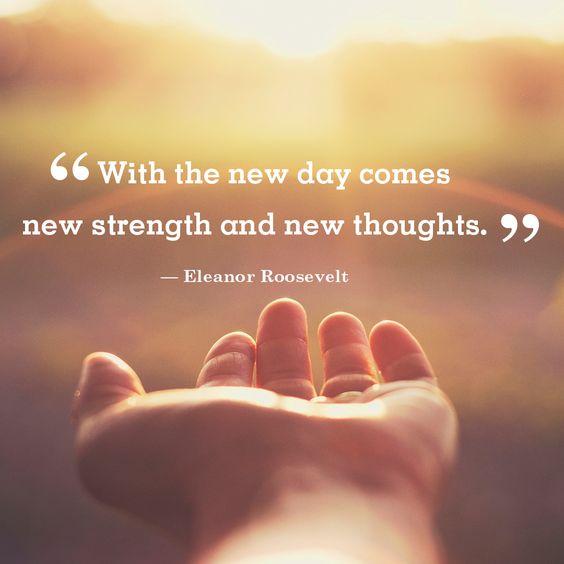 new strength good morning