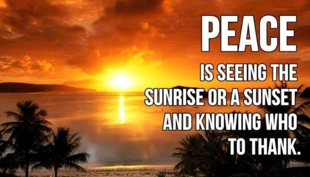 peace thank