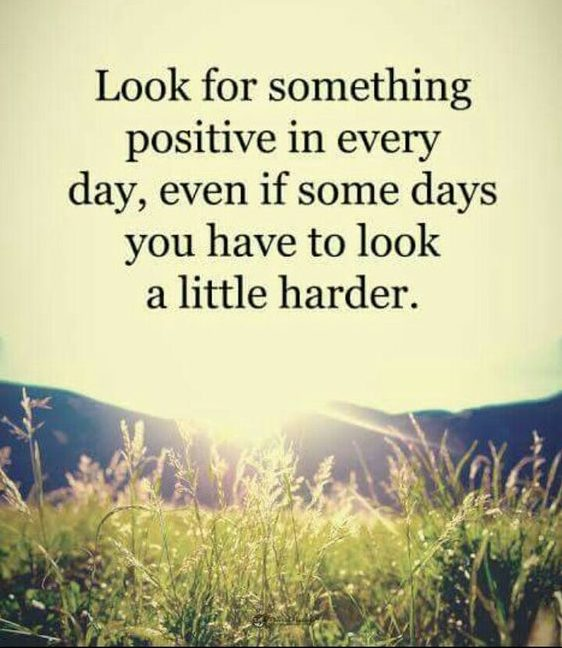 look for positive