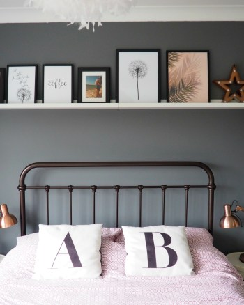 A Bedroom Update using Ikea Picture Ledges