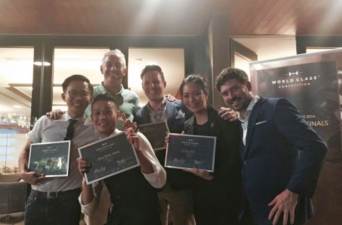 Photo 1- Diageo Singapore World Class finalists 2016 with judges Jason Crawley and Will Thompson