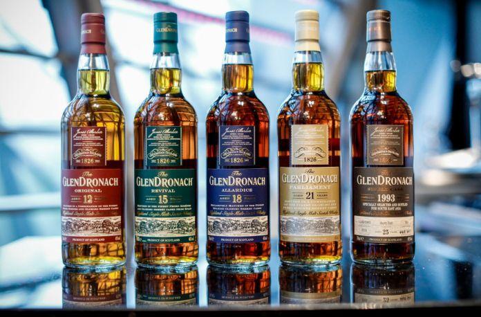Glendronach whisky range