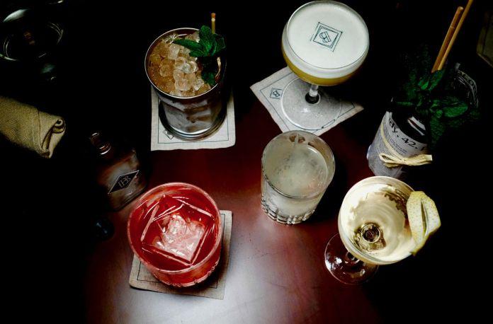cocktails at Barbary Coast