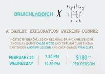 bruichladdich x tippling club barley exploration pairing dinner
