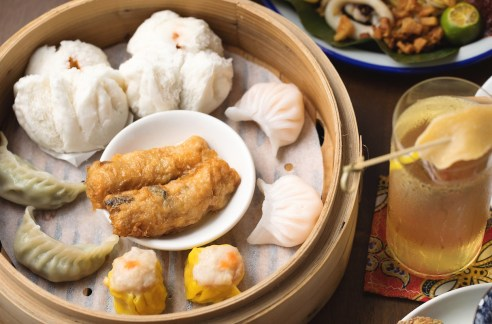 cocktails and local food Ah Sam Good Luck Beerhouse dim sum cocktail