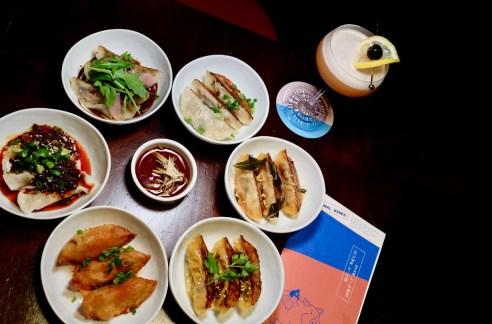 cocktails and local food - dumpling darlings