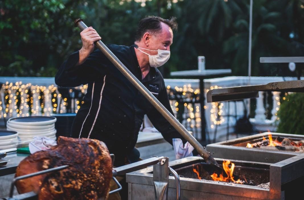 alfresco dining in Singapore - TXA Gastrobar Weekend On Fire