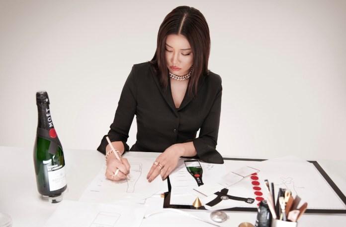 Yoon designing Moët& Chandon x AMBUSH