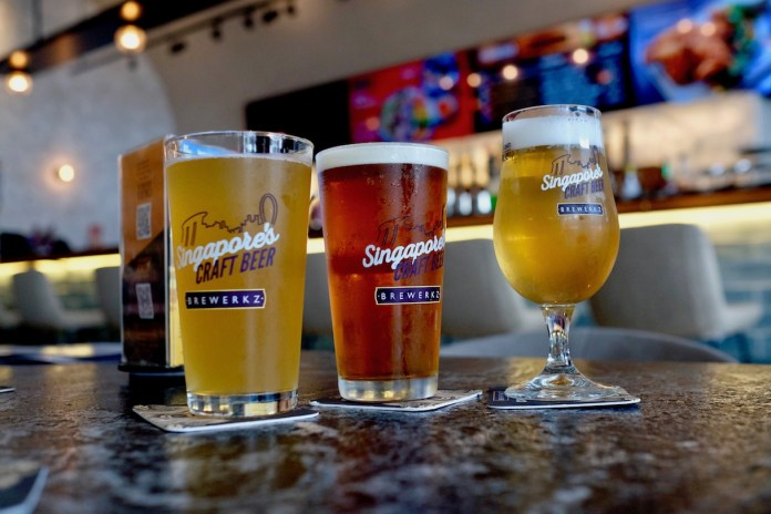 Beers at Brewerkz One Fullerton