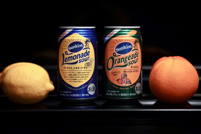 JINRO x Sunkist Lemonade Sour and Orangeade Sour