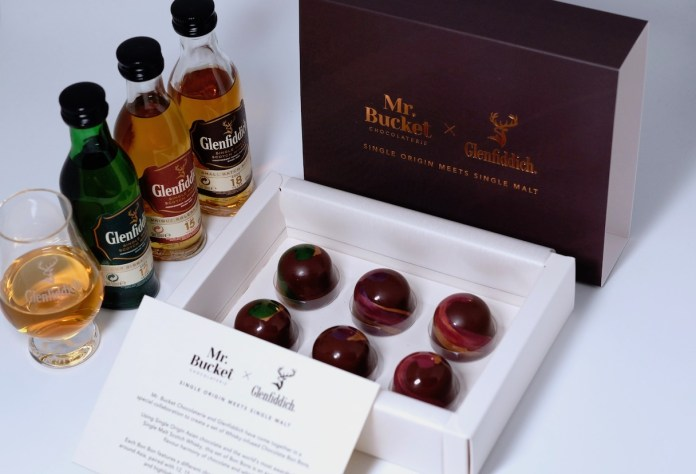 mr. bucket x glenfiddich father's day whisky bon bons