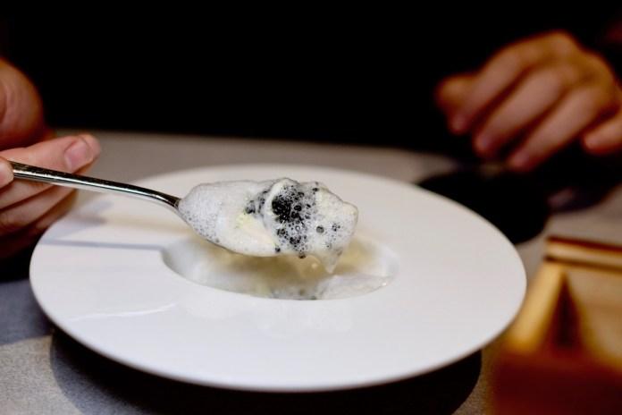 Alma by Juan Amador 6th anniversary tasting menu Iced Beurre Blanc
