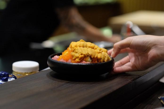 Fukui omakase chirashi don with uni