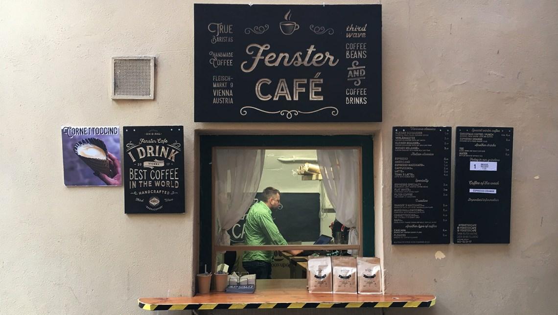 Das Fenstercafè am Fleischmarkt in Wien