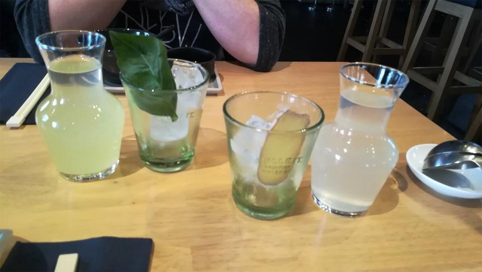 Hausgemachte Limonaden