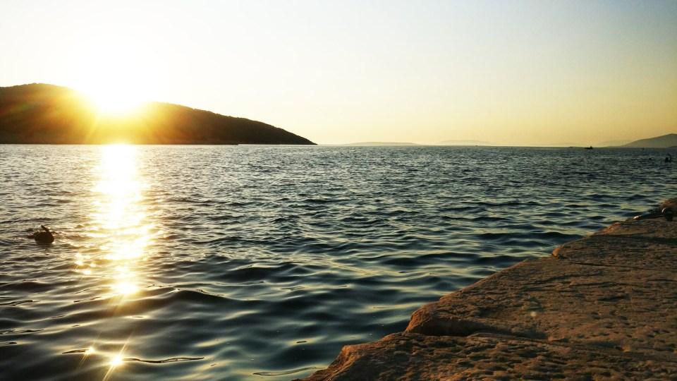 Letzten Sonnenstunden in Losinj Osor